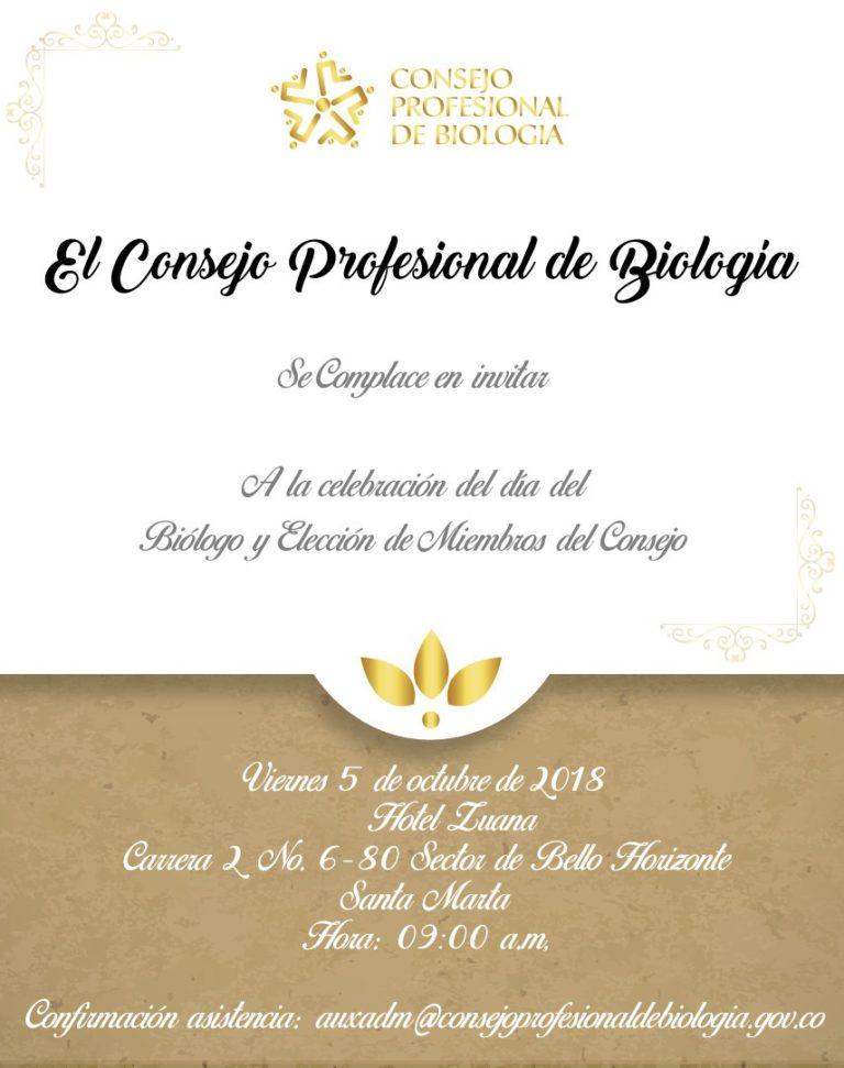 Invitación Evento Consejo Profesional de Biología